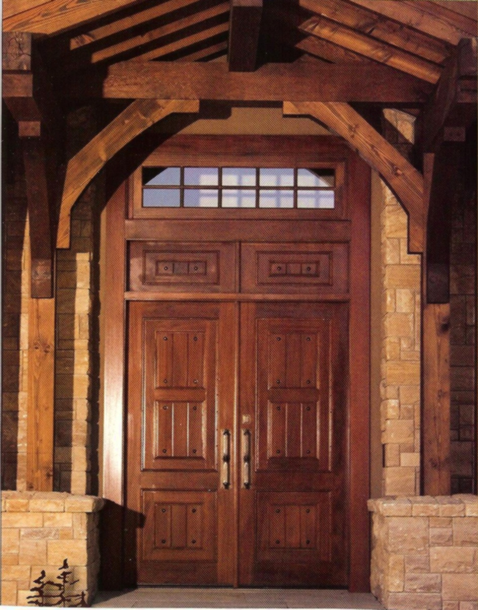 exterior wood entry